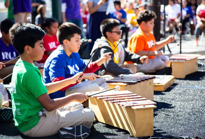 LA Phil image of children playing xylophones